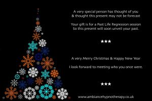 past life regression Christmas gift voucher